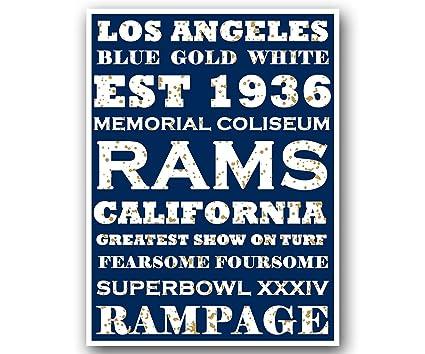 Amazon.com   Atlas LA Rams Poster Subway Style Art Football NFL ... c826e902c0cef
