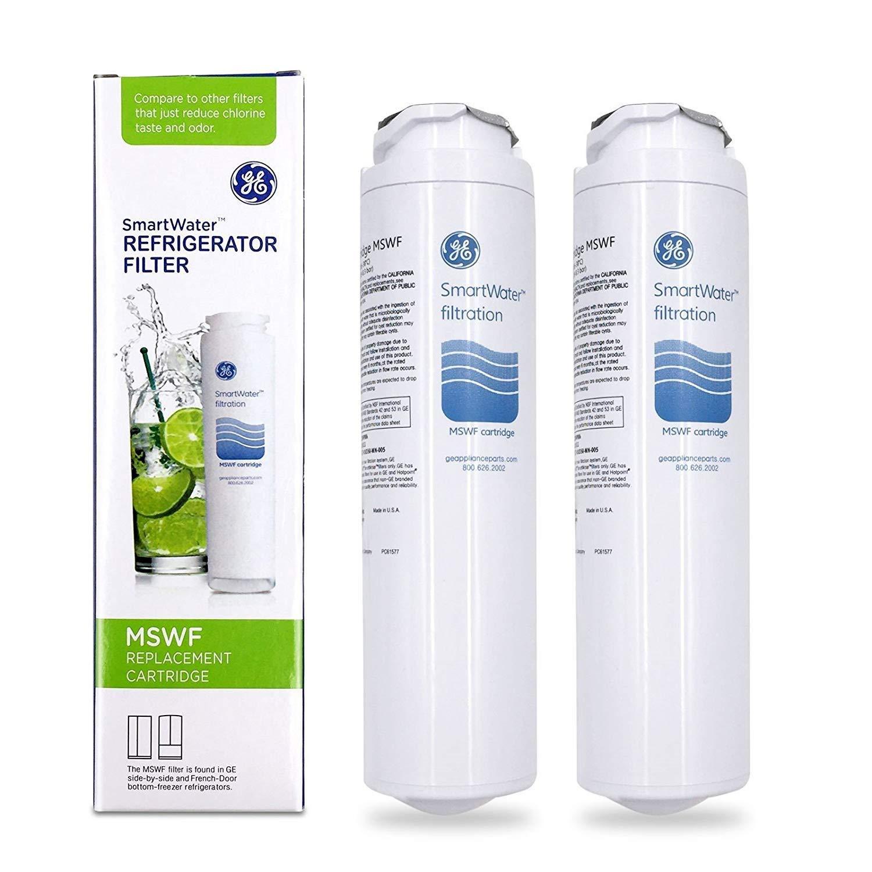 2 PACK GE MSWF SmartWater Refrigerator Filter Replacement Cartridge Brand OEM