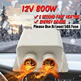 MASO 12V 800W Car Heater Kit - High Power 5 Second Fast Heating Defrost for Automobile Windscreen Winter