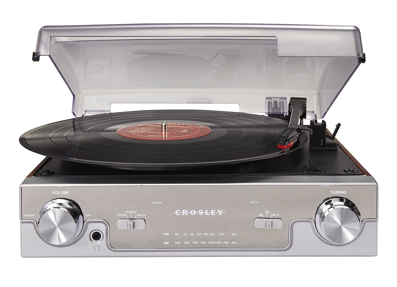 Amazon.com: Crosley CR6005A MA Tech Turntable With AM/FM Radio And Portable  Audio Ready (Mahogany): Home Audio U0026 Theater