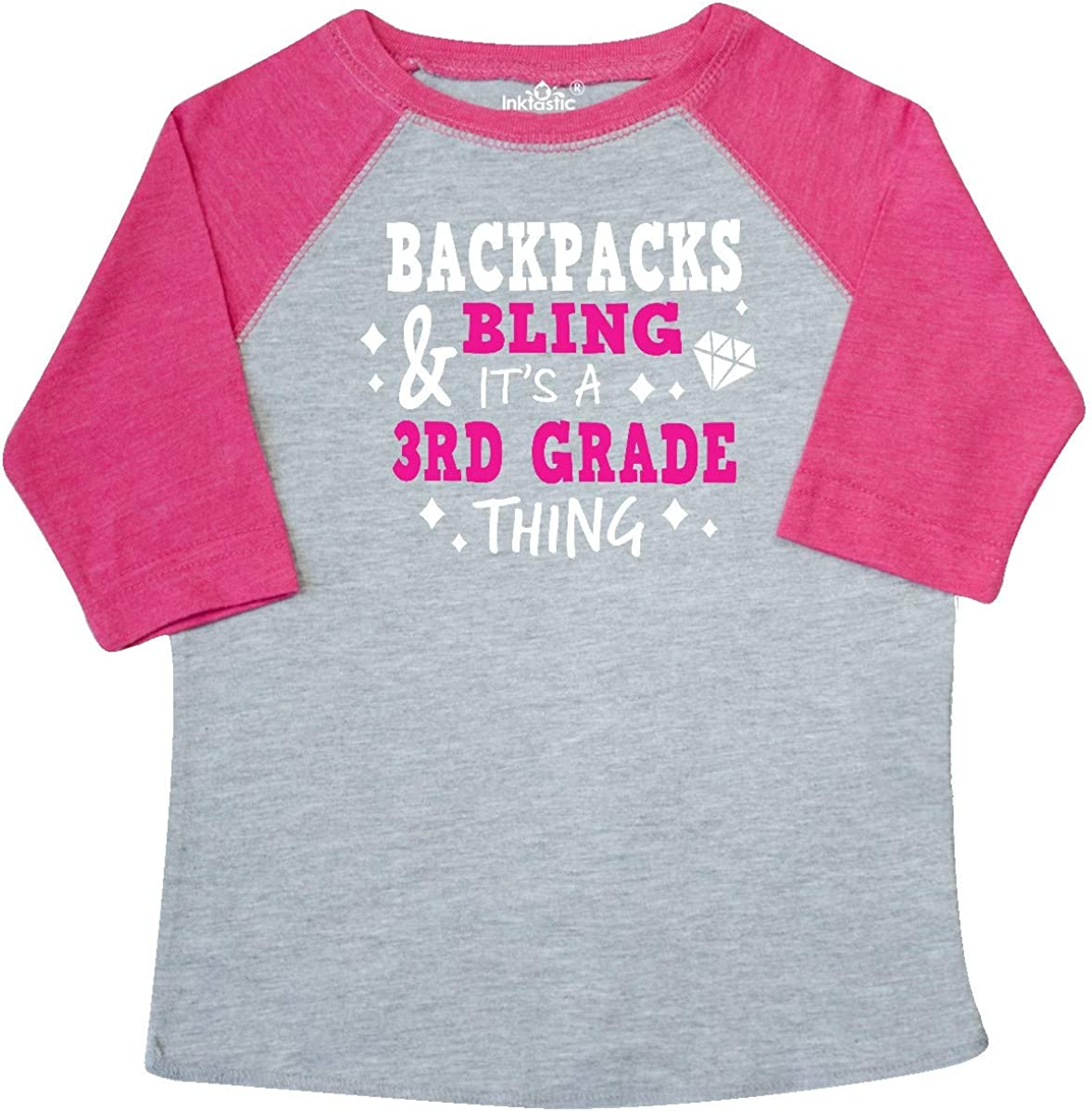 inktastic Backpacks and Bling Its a 3rd Grade Thing Toddler T-Shirt