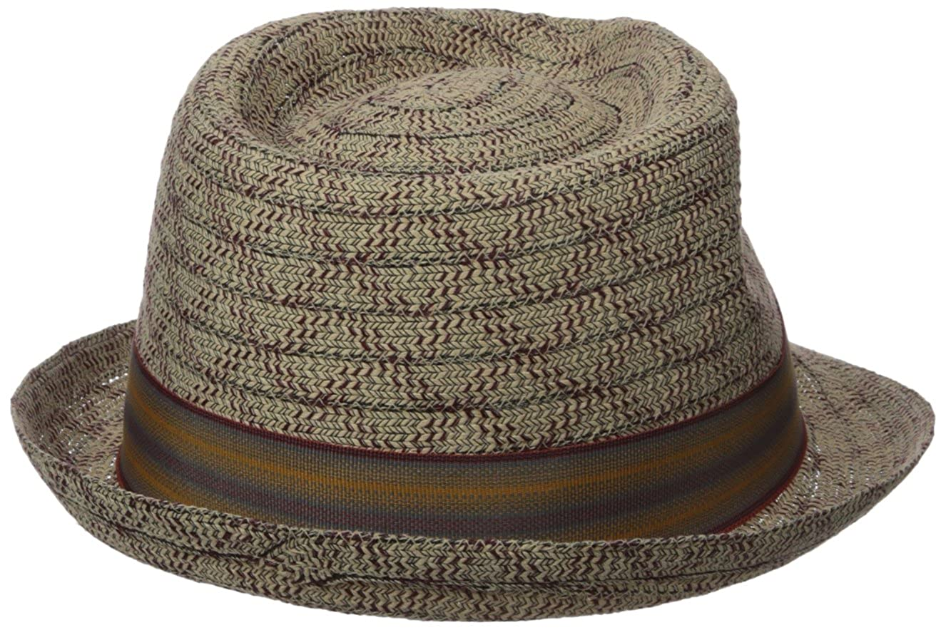 Henschel Mens Fedora with Light Viscose Braid with Striped Band
