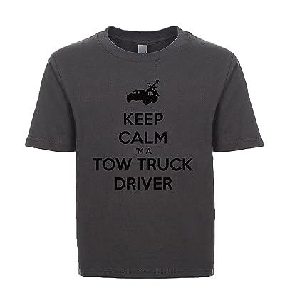 Shirtgoals Keep Calm I'm A Tow Truck Driver Unisex Kids Tee