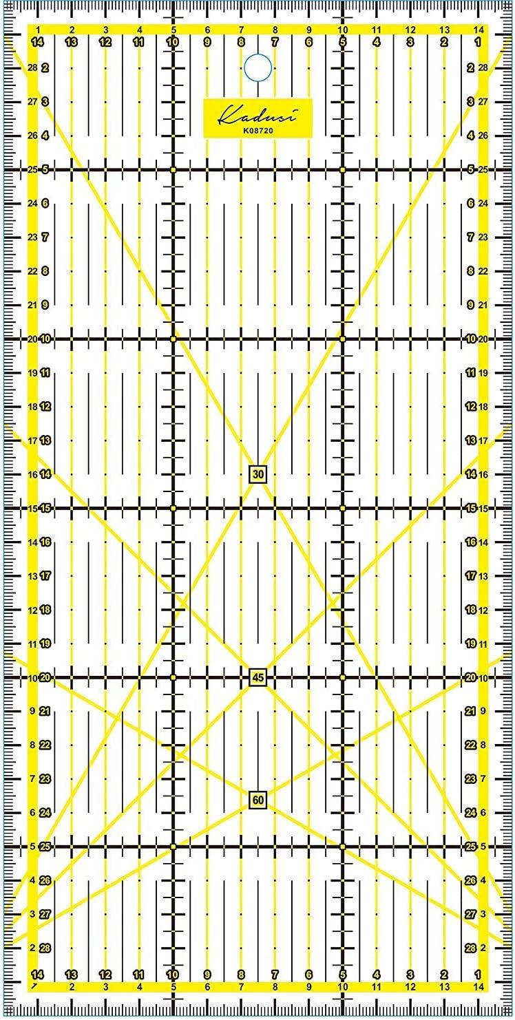 Kadusi Righello per patchwork 15x30cm