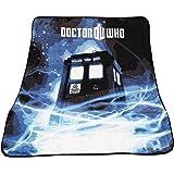 """Doctor Who Throw Blanket - TARDIS Gallifrey Fleece - 50"""" x 60"""" Afghan"""