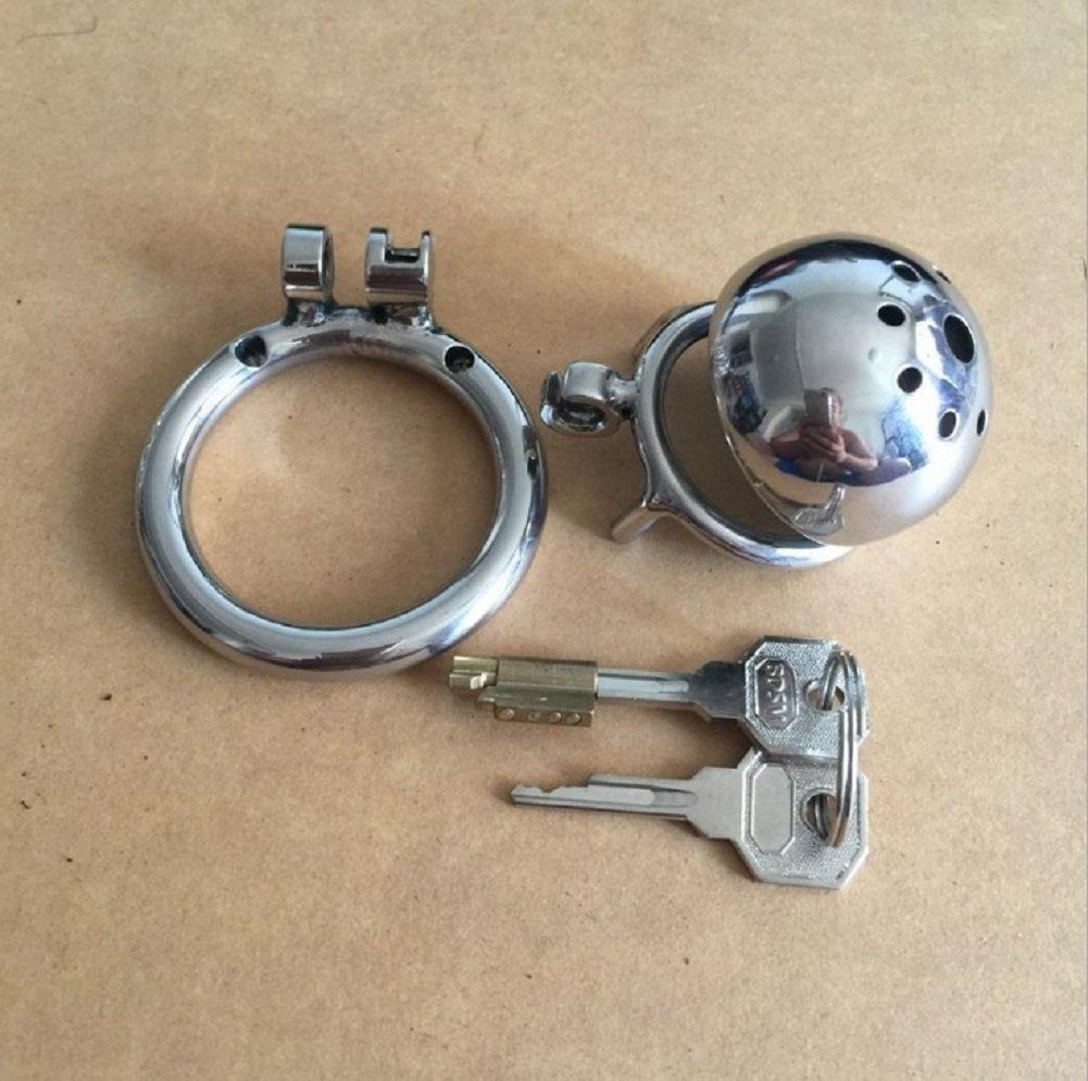 Jaulas de pene Cinturón de castidad, para juguetes hombres, acero inoxidable, cerradura de castidad, juguetes para alternativos, juguetes sexuales (Tamaño : 40mm inner diameter card ring) b338eb