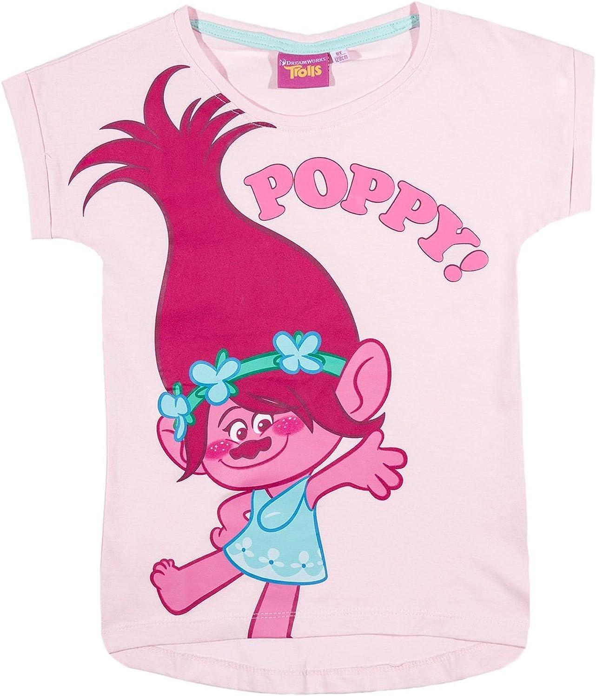 Trolls Felpe Senza Cappuccio per Ragazze Poppy