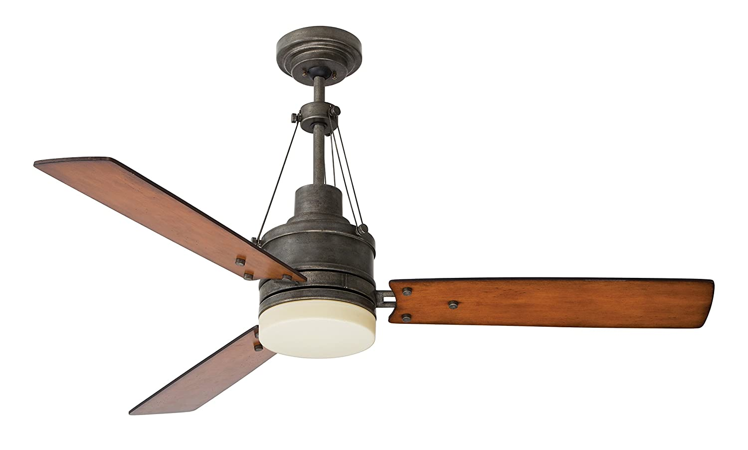Emerson CF205LVS Highpointe 54-inch Modern Ceiling Fan, 3-Blade Ceiling Fan with LED Lighting and 4-Speed Remote Control