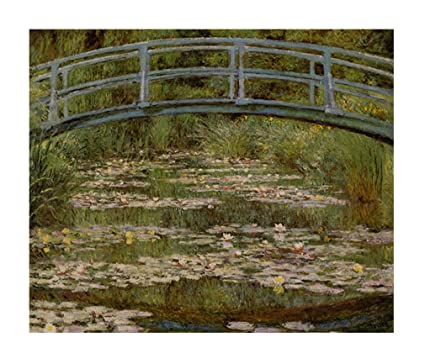Amazon Com Le Pont Japonais Monet Wood Print Wall Art Wall Decor