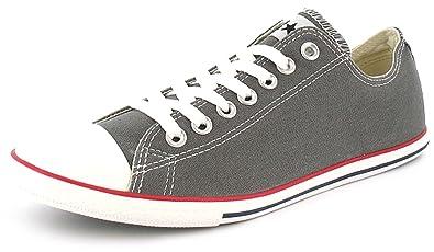 47f13c4c36adce Unisex Grey Converse Low Cut Chuck Taylor All Star Slim Plimsoles - Grey -  UK SIZE