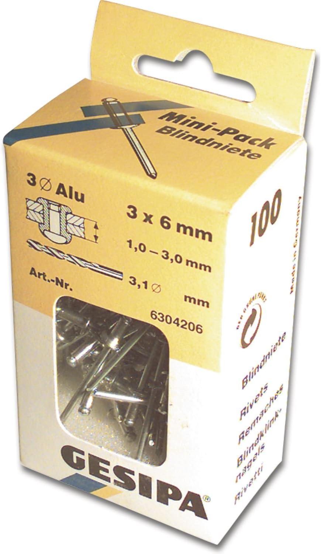 top qualité Gesipa W allemand 5 mm x 12 mm SET 20 Plastique Nylon Aveugle Pop Rivets