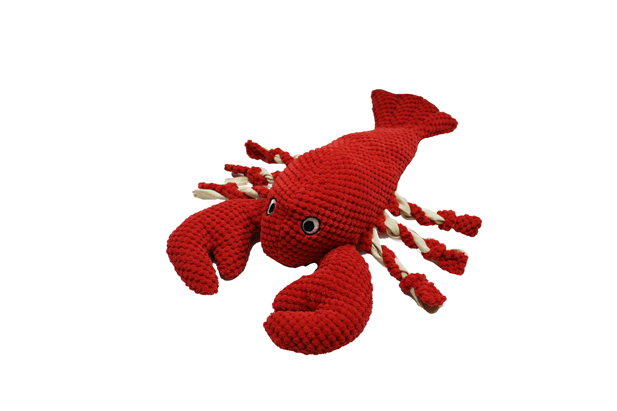 Patchwork Pet Nautical 15-Inch Lobster Dog Chew Toy with Rope Legs