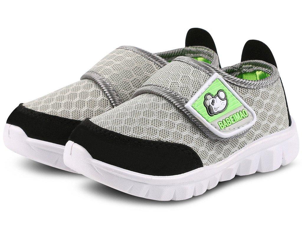 DADAWEN Baby's Boy's Girl's Mesh Light Weight Sneakers Running Shoe Gray US Size 4 M Toddler by DADAWEN (Image #3)
