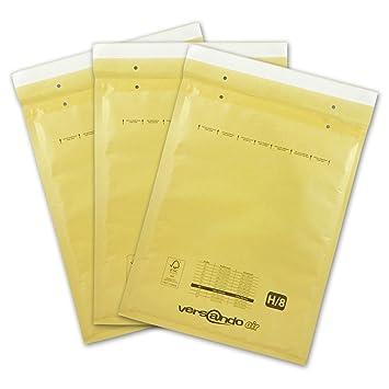 Versando LUPOBH100 - Sobres acolchados, Marrón/ Dorado, 290 x 370 mm exterior, H8, 100 Piezas