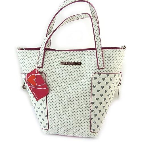 506bb2fb710  french touch  bolsa  Agatha Ruiz De La Prada fucsia blanco - pequeños