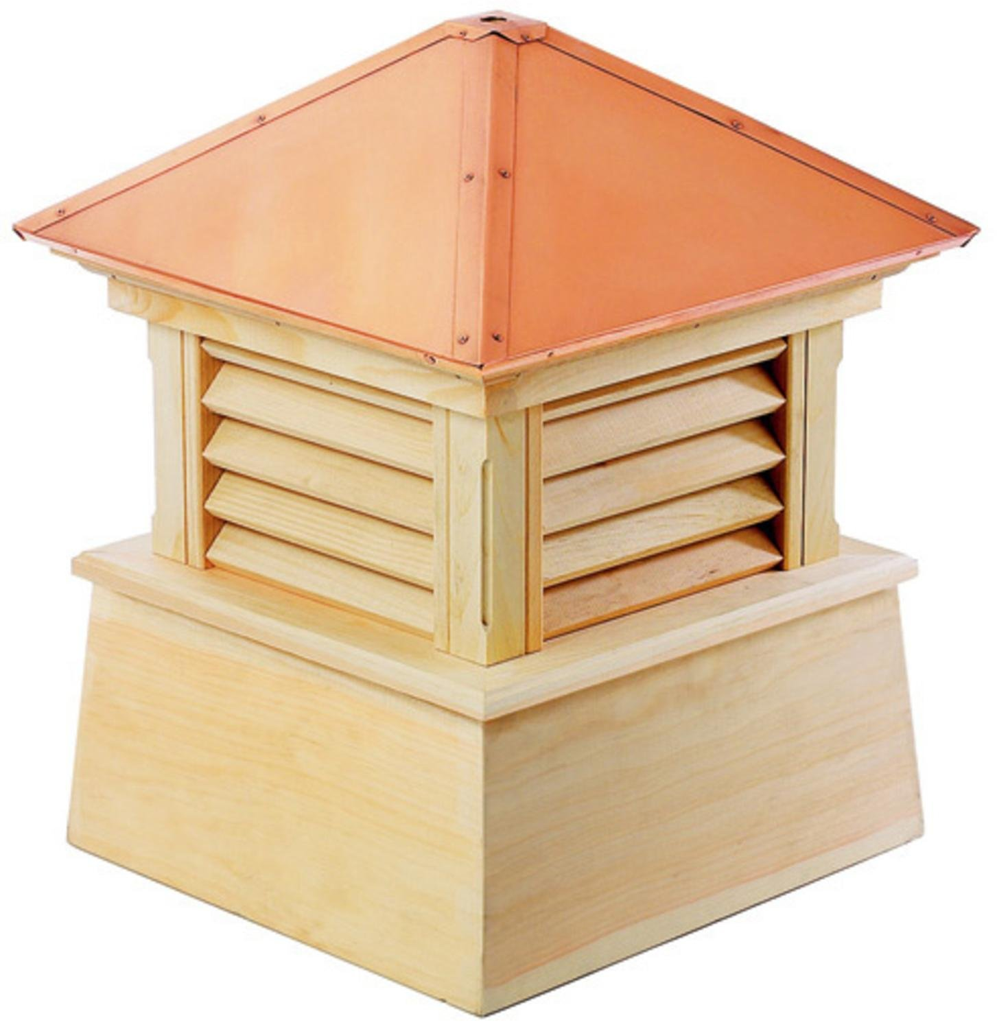 22'' Handcrafted ''Bristol'' Copper Roof Wood Cupola