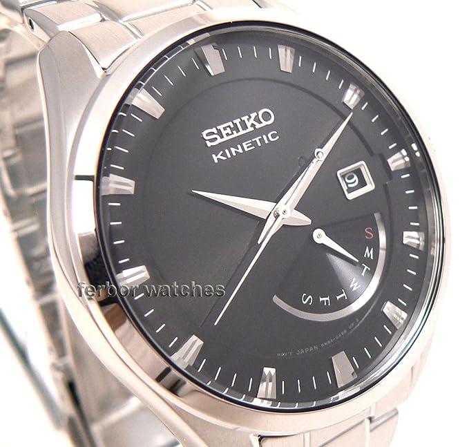 Seiko Kinetic Reloj para hombres de cuarzo srn045p1
