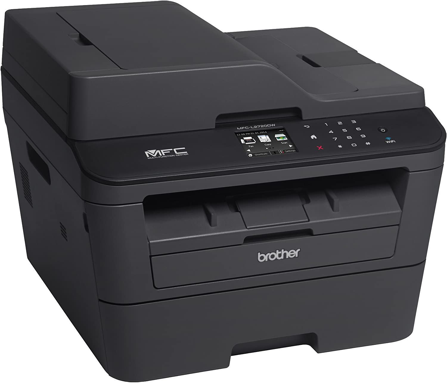Brother Monochrome Laser Printer, Compact All-In One Printer, Multifunction Printer, MFCL2720DW, Wireless Networking and Duplex Printing, Amazon Dash ...