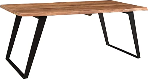 Timbergirl Solid Wood Live Edge 60 Dining Table Brown