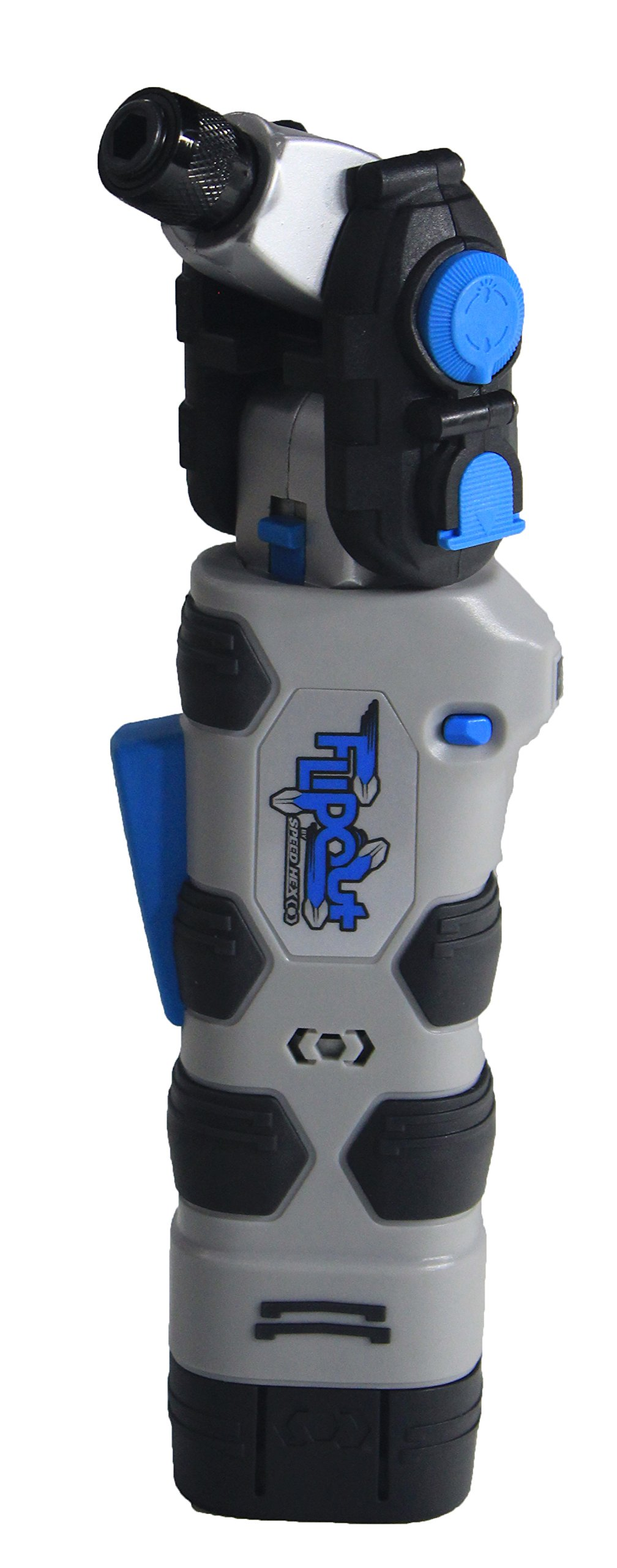 SpeedHex FlipOut 2 Rechargeable Power Driver with Removable Battery and Bonus Bits – FOSH162BP