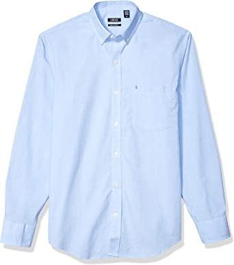 IZOD Mens Button Down Long Sleeve Stretch Performance Stripe Shirt