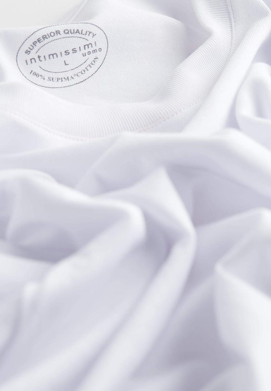 Intimissimi Mens Short Sleeve Crew Neck T Shirt in Supima Cotton