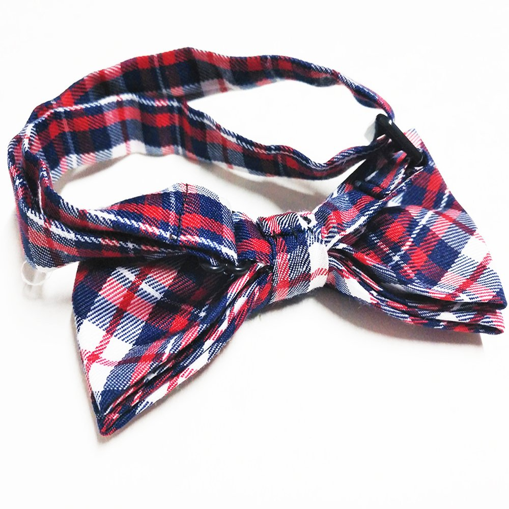 PET SHOW Plaid Dog Bow Ties Adjustable Collar Bowties for Small Dogs Puppy Cats Party Pet Collar Neckties Grooming Accessories Pack of 8 by PET SHOW (Image #2)