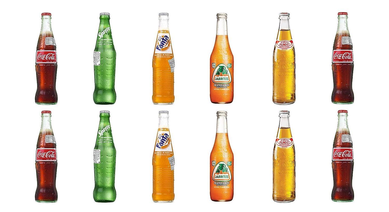 LUV BOX-Variety Soda Pack, 12 ct,original flavor of Coca-Cola,Sprite,Fanta,Jarritos Mandarin Soda & Sidral Mundet Apple Soda.