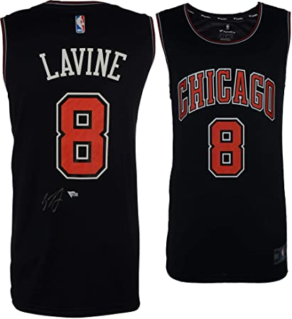new arrival 00953 37124 Zach LaVine Chicago Bulls Autographed Black Fanatics Fast ...