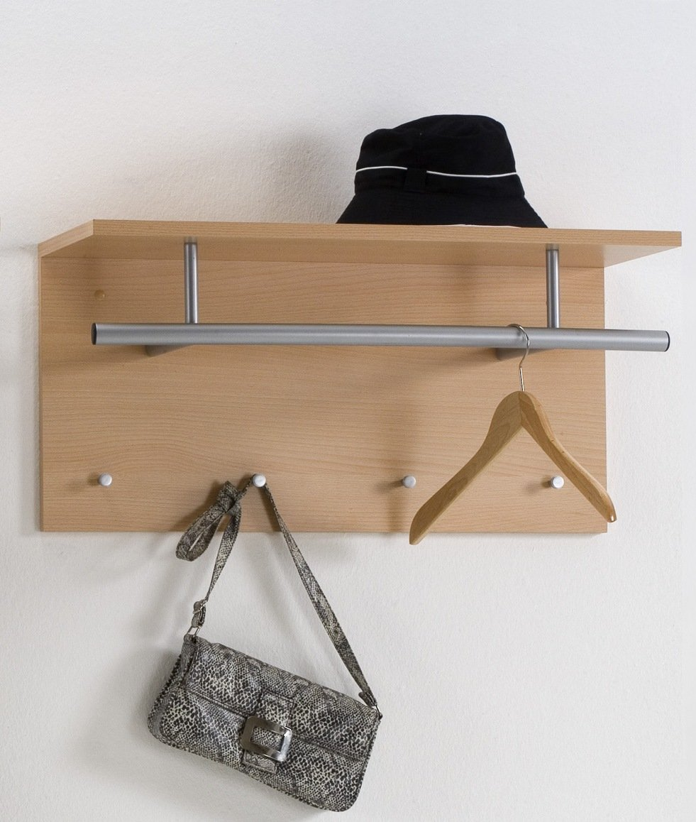 Wall hangers with shelves in the hallway
