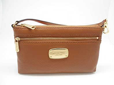 932394f85f36 ... low cost michael kors jet set item large leather wristlet luggage brown  1f00d 8131d low price ...