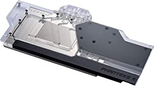 Phanteks Glacier G2080Ti Strix GPU Full Waterblock for Asus ROG Strix RTX 2080/2080Ti - Nickel-Plated, Acrylic, Addressable RGB – Black