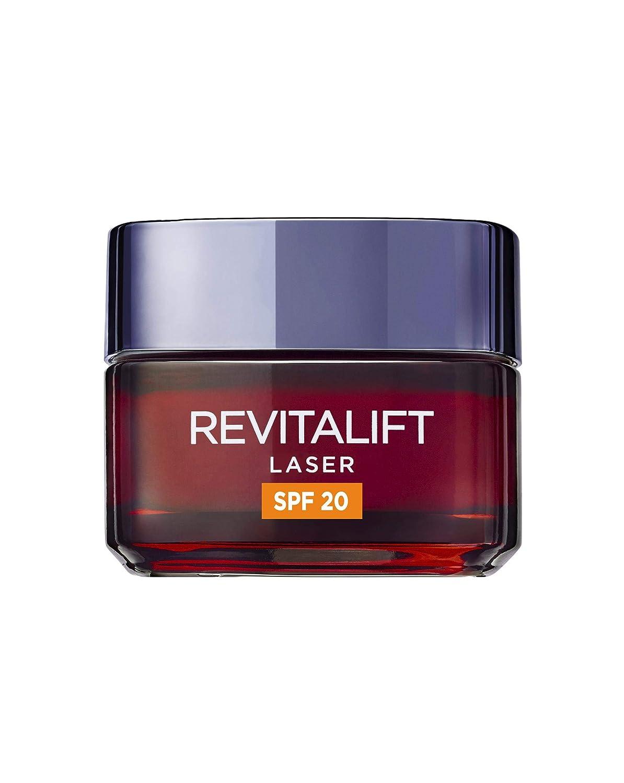L'Oréal Paris Dermo Expertise Crema de Día Antiedad Revitalift Láser con Protección Solar (SPF20) y Proxylane, 50 ml