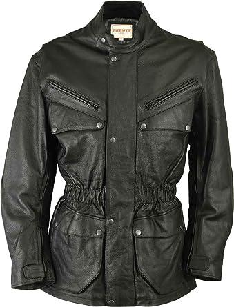 Moto Veste Homme Cuir Jacket Blouson Noir Rz45Bgxnnw