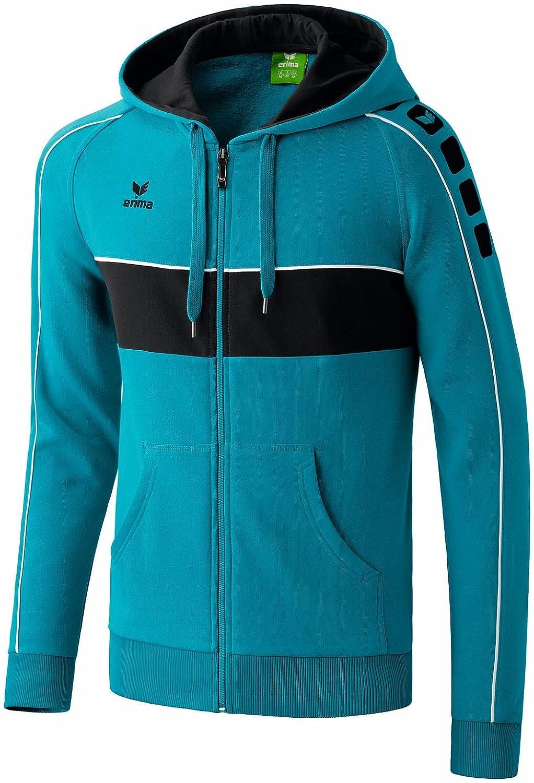 Erima Kinder Sweatshirts 5-cubes Hooded Jacket Fashion Petrol/Black/White 164 607201