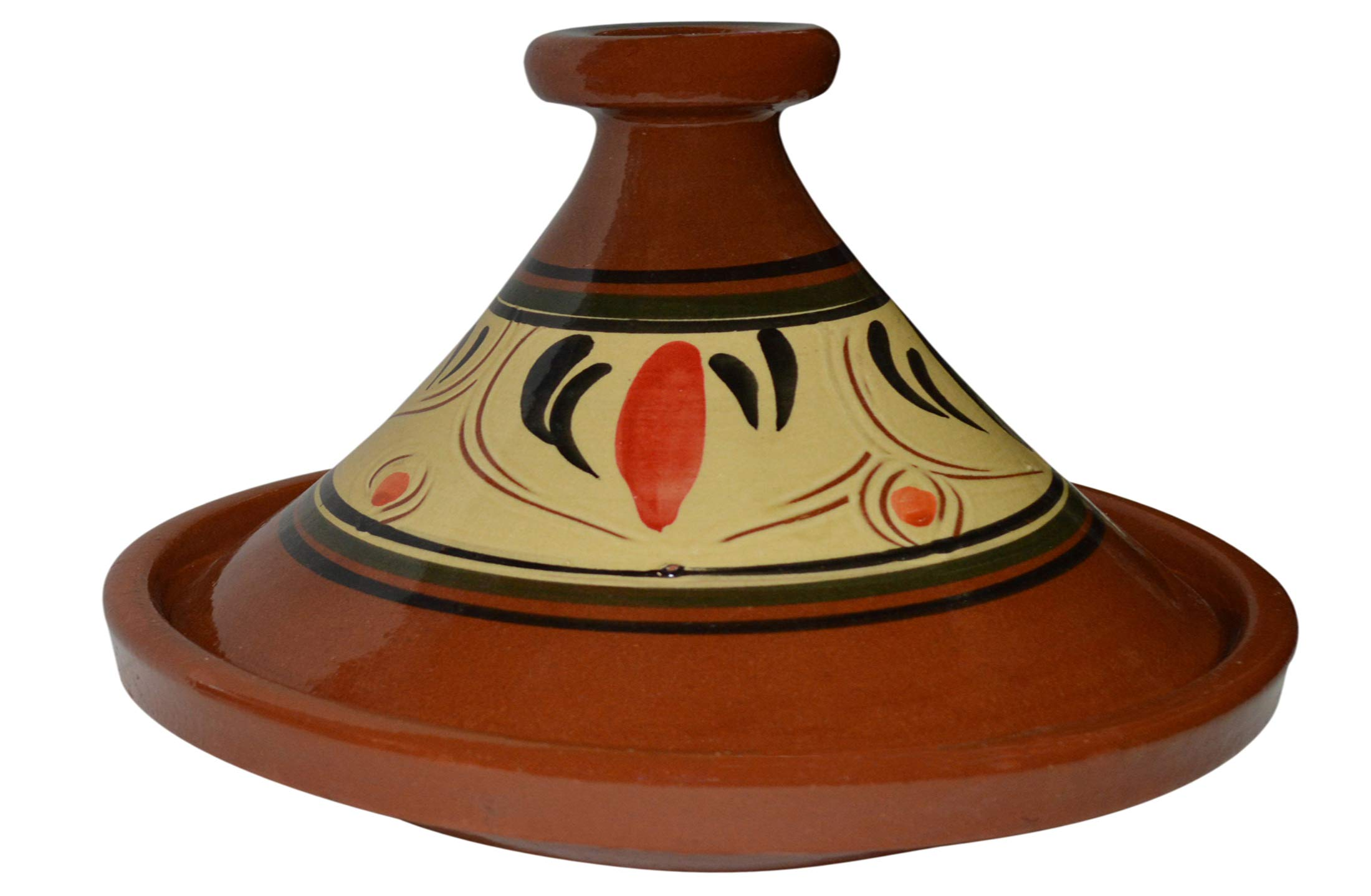 Moroccan Lead Free Cooking Tagine Glazed X-Large 13 Inches in Diameter Authentic Food by Cooking Tagines