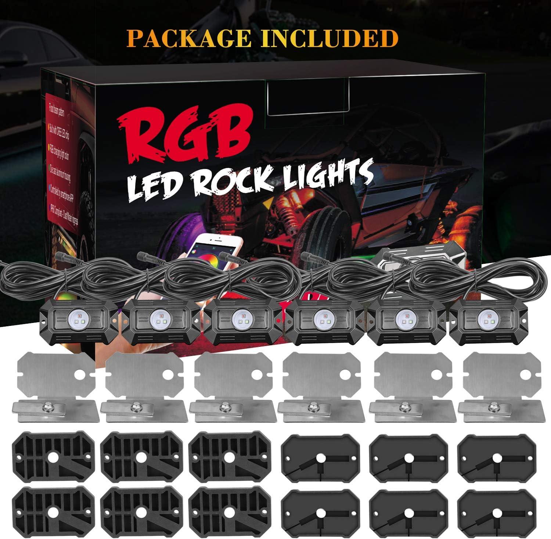 Light & Lighting Accessories 6 Pods RGB Rock Lights DJI 4X4 ...