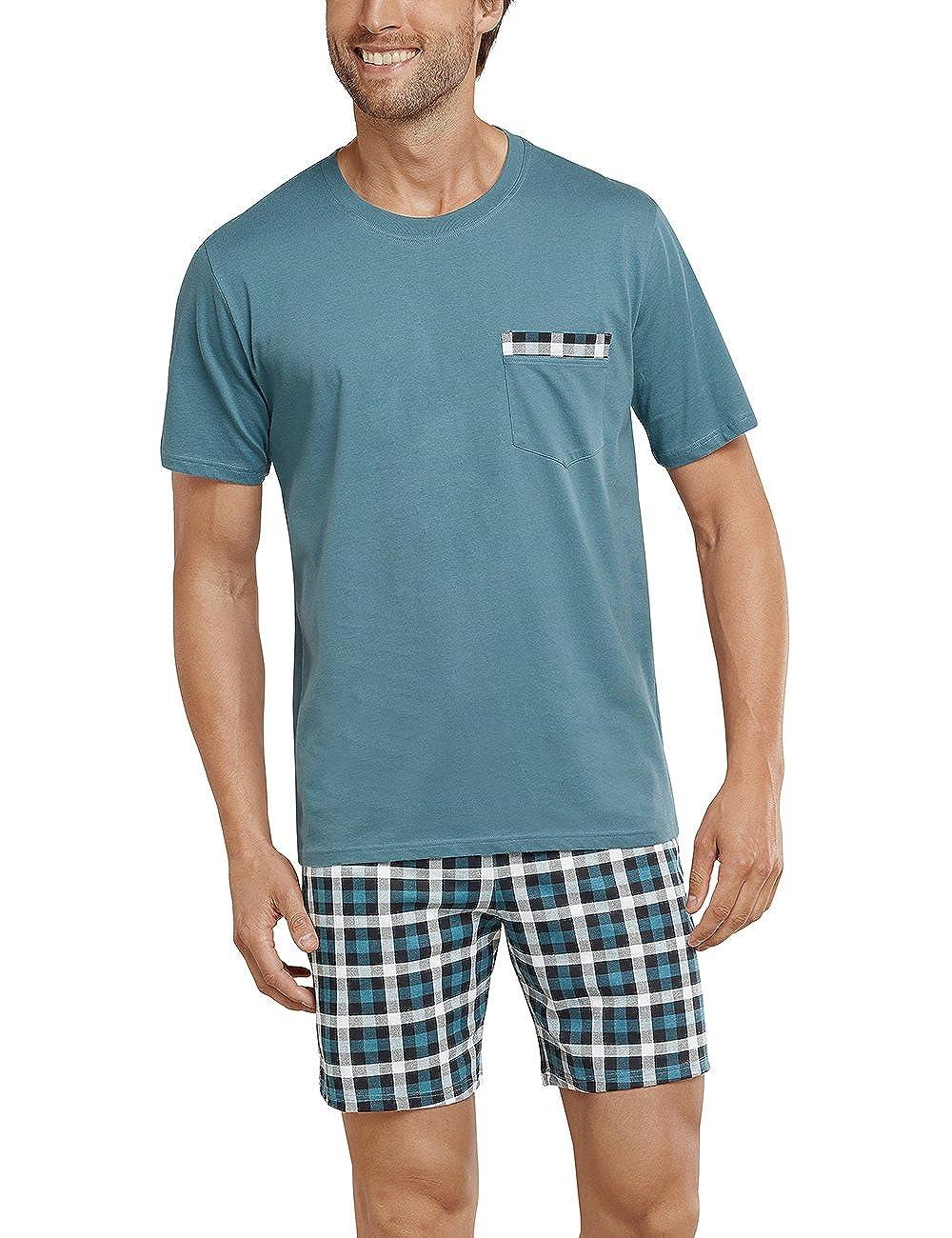 Schiesser Herren Schlafanzughose Anzug Kurz
