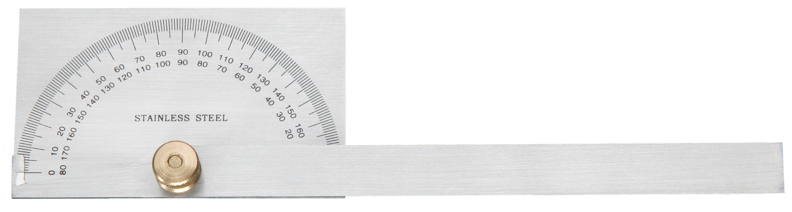 Steelex D3386 Protractor-Stainless Steel
