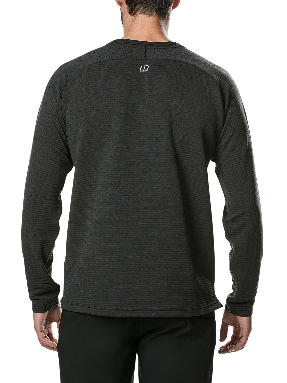 Black//Carbon berghaus Caldey Crew Midlayer Fleece Camiseta Medium