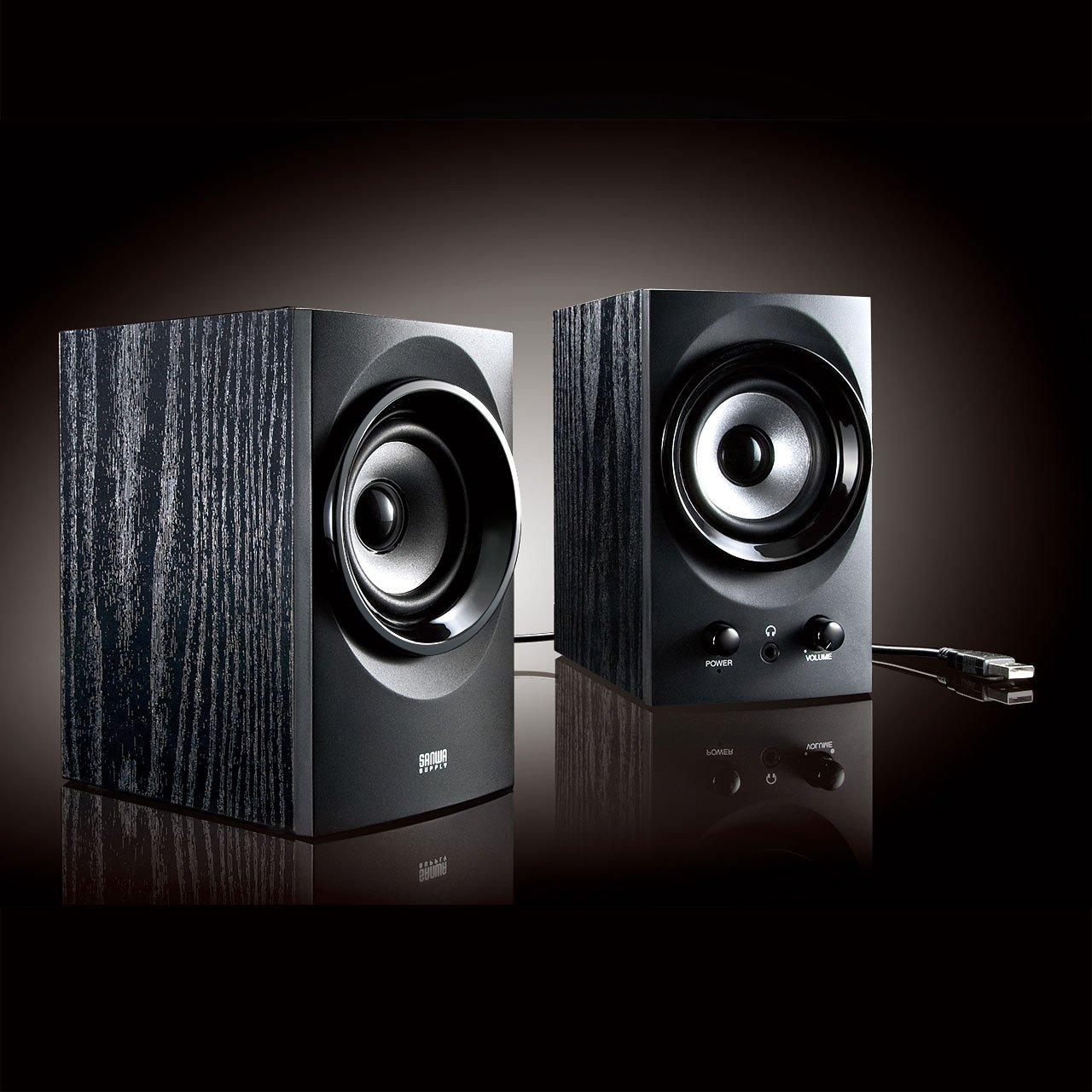 SANWA SUPPLY high-power USB speaker MM-SPU9BK (Black) by Sanwa (Image #8)