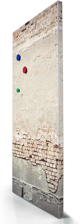 Magnetwand grau 78x37cm grau Magnetpinnwand mit Motiv Baul/ücke banjado Design Magnettafel gro/ß Pinnwand magnetisch mit Magneten und Montageset