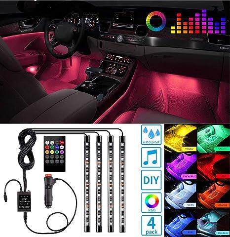Amazon.com: Luces LED para interior de coche, controlador de ...