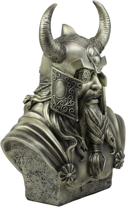 Ebros Warrior God Odin The Alfather Bust Statue 12 H Norse Viking God Odin Ruler of Asgard Sculptural Figurine Ebros Gift