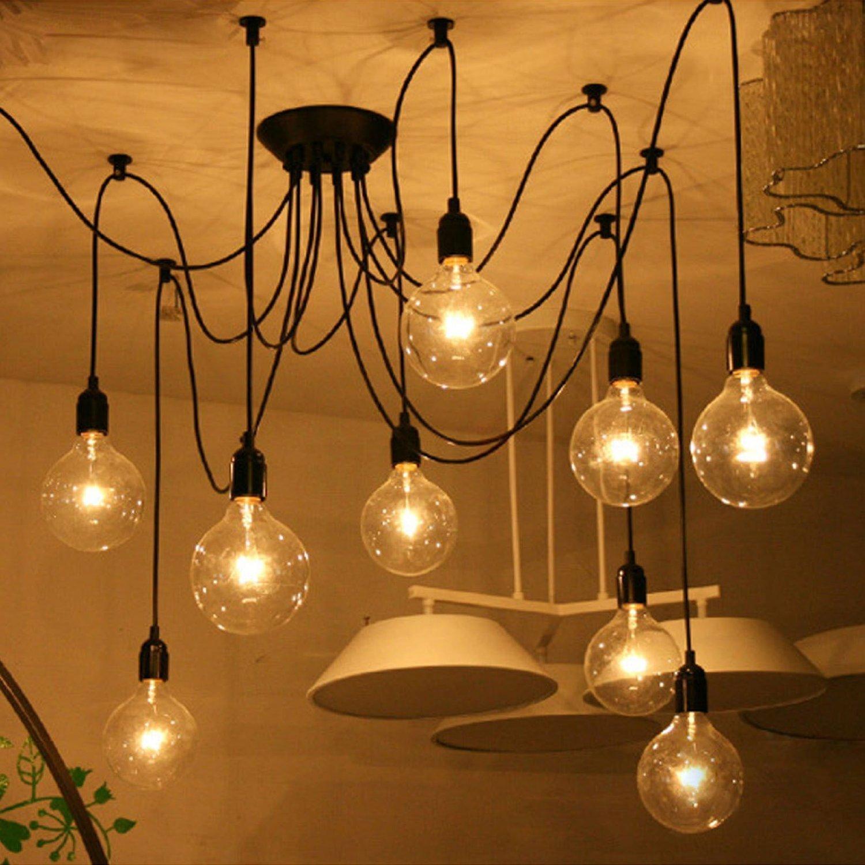 Itian Chandelier Lights 8 Light bulbs interface Antique Vintage ...