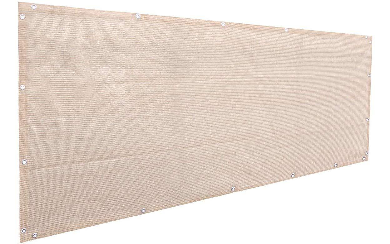 Alion Home Elegant Privacy Screen for Backyard Deck, Patio, Balcony, Fence, Pool, Porch, Railing. Banha Beige (3' x 6')