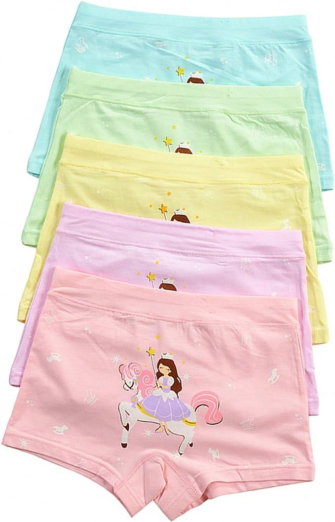 Little Girls Soft Cotton Underwear Toddler Panties Kids Briefs Baby Undies 12-Pack