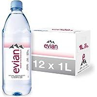 12-Pack Evian Natural Spring Water (1-Liter)