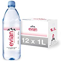 Evian Natural Spring Water (One Case of 12 Individual Bottles, each bottle is 1...