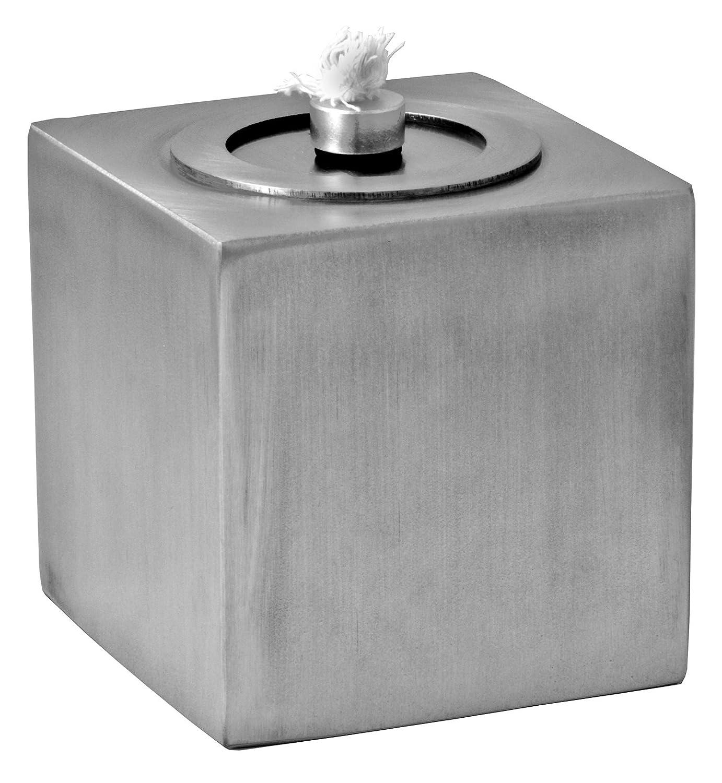 Tischfackel oder Gartenfackel aus Edelstahl mit Kappe Fackel Garten Deko Feuer